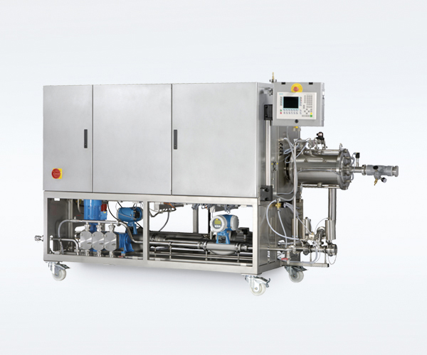 Production machine for the processing of a large food quantity