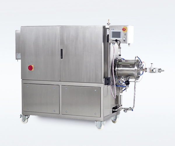 Production machine for the dosing and mixing in the non-food industry