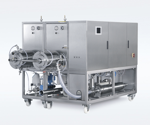 Production machine for large processing quantities in the non-food industry
